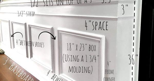 DIY Classic Wainscoting Tutorial  거실, Diy 벽 아트 및 집