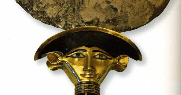 1750 1580 miroir de sathahor iounit argent or obsidiennes for Miroir egyptien