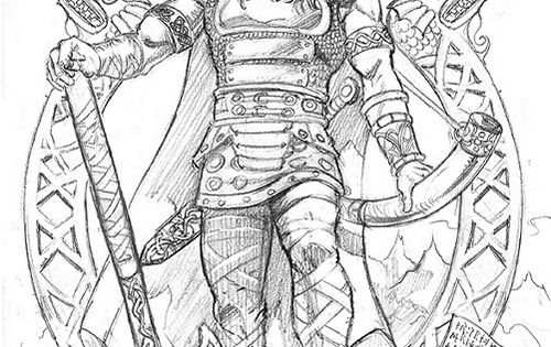 Heimdall norse ancestor god goddess mythology for Norse mythology coloring pages
