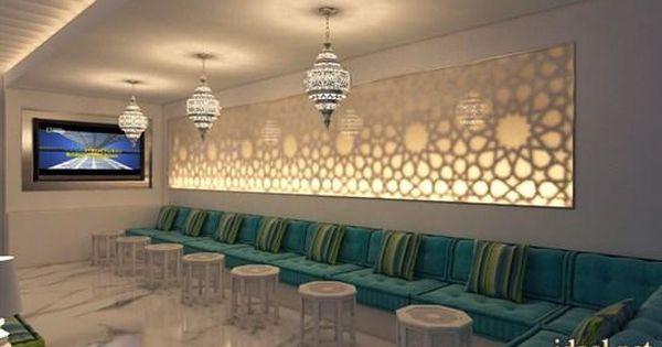 ديكورات مجالس عربية فخمة جبس اضاءة ارضية توزيع الاثات منتدى جدايل Arabic Decor Islamic Decor Home Decor