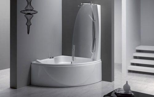 Corner Bath Tub Shower Combination Sphera 140 Aqualife Srl