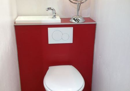 Wc suspendu avec lave main integre 7 pinterest - Amenagement wc avec lave mains ...