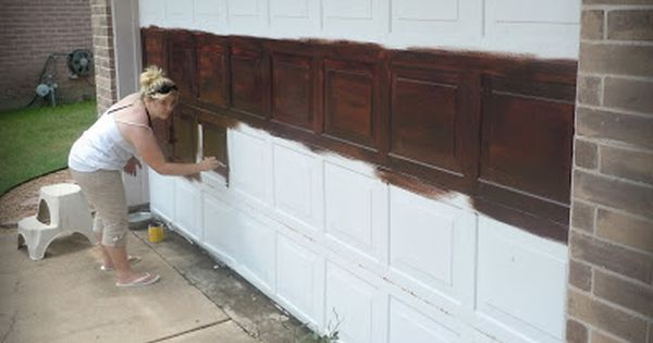 Who wants to help me paint my garage door made to love - Garage door painting ideas ...