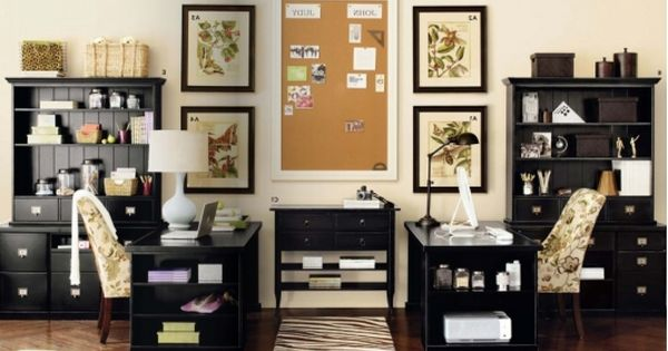 His And Her Office Space Home Office Design Home Office Decor Home Office Layouts