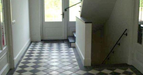 Zwart wit tegelvloer bijkeuken pinterest zwart wit zwart en keukenvloeren - Deco originele wc ...