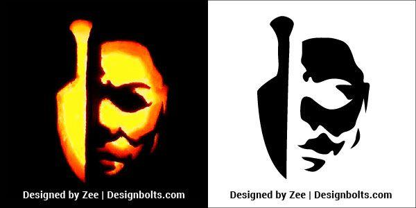 Freddy Kruger Pumpkin Pattern Halloween Pumpkin Stencils