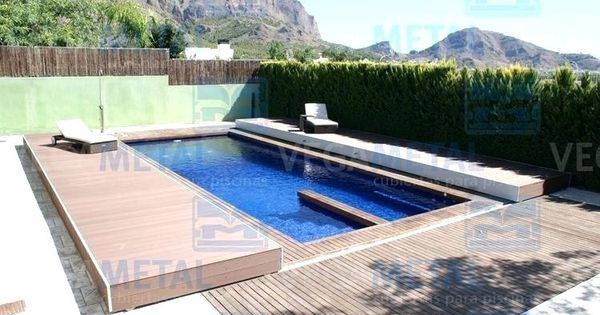 Pool Cover Cost Flat Swimming Pool Enclosure Wooden Motorized Slide Retractable Pool Covers Flat Swimming P Small Swimming Pools Pool Enclosures Courtyard Pool