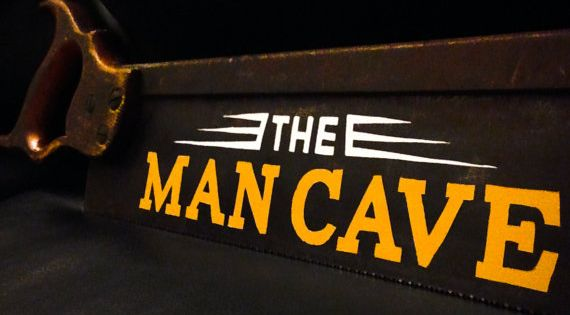 Hand Painted Man Cave Signs : Man cave painted saw hand sign wall decor