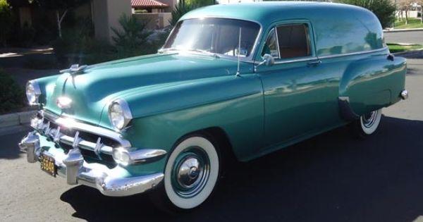 1954 Chevy Sedan Delivery Chevrolet Classic Cars Trucks Panel Truck