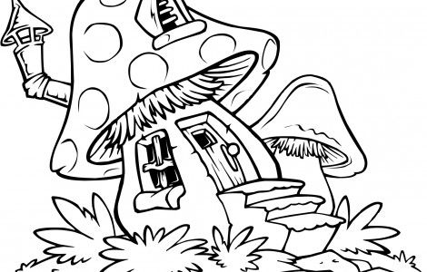 Free Printable Mushroom Coloring Pages House Colouring Pages