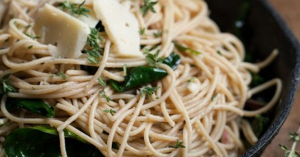 Garlic Butter Pasta with Spinach and Parmesan | Recipe | Shirataki ...