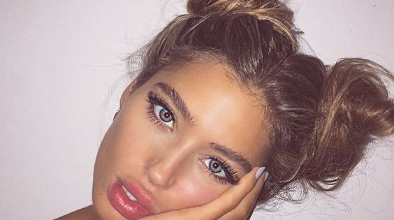 pretty little girl hairstyles : two bun hairstyle pool party ready Hairstyle Ideas Pinterest Two ...