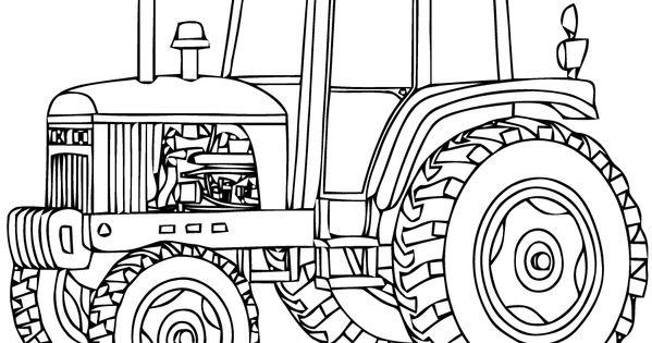 Coloriage tracteur 11 dessin imprimer dessins - Coloriage en ligne tracteur ...
