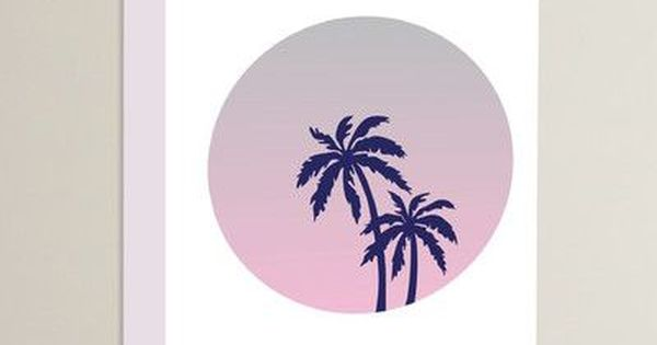 Varick Gallery Cabrini Palm Tree Circle Graphic Art On Wrapped Canvas Size Graphic Art Art Wrapped Canvas