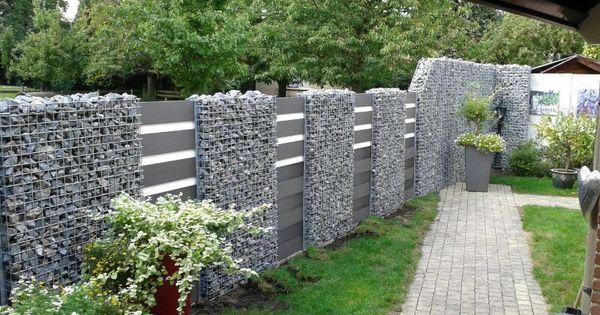 wpc zaun kombination mit gabionen zuk nftige projekte pinterest wpc zaun gabionen und z une. Black Bedroom Furniture Sets. Home Design Ideas