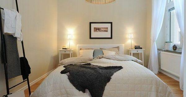 Schlafzimmer Gestalten Im Skandinavischen Stil Bett Im Mittelpunkt,