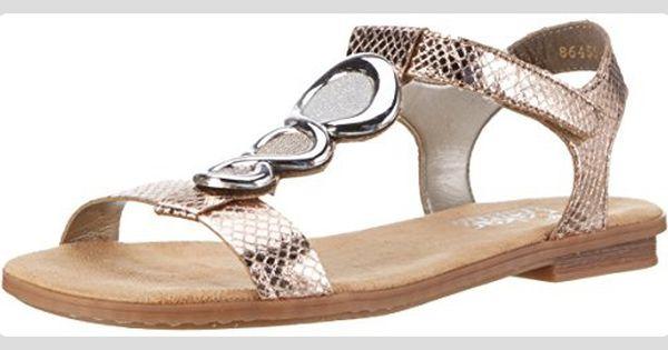 Rieker Damen 64265 Offene Sandalen Gold Kupfer Altgold Lightrose Silber 90 36 Eu Sandalen Fur Frauen Partner Rieker Schuhe Sandalen Frauen Sandalen