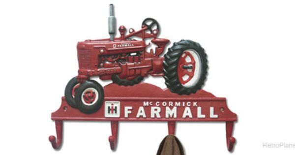 Farmall tractor cast iron coat rack dining room for International harvester room decor