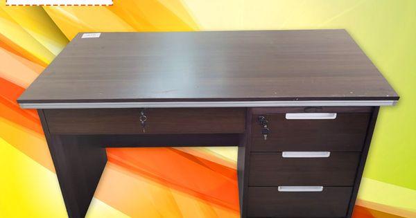 مكتب دراسه لون بني In 2020 Office Desk Decor Home Decor