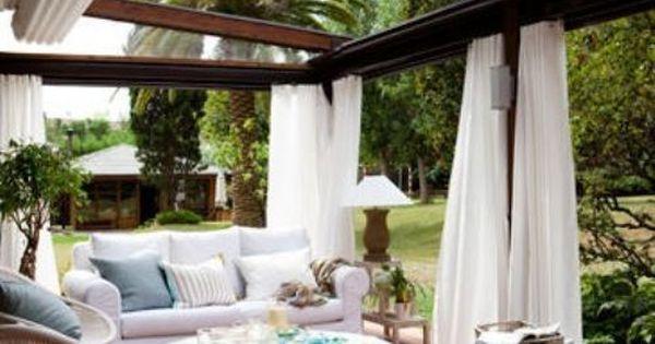 Backyards i would never leave 27 photos terrazas for Separadores de jardin
