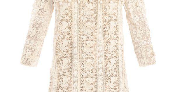 Ivory lace dress. isabel marant ISA-D-INNY dress