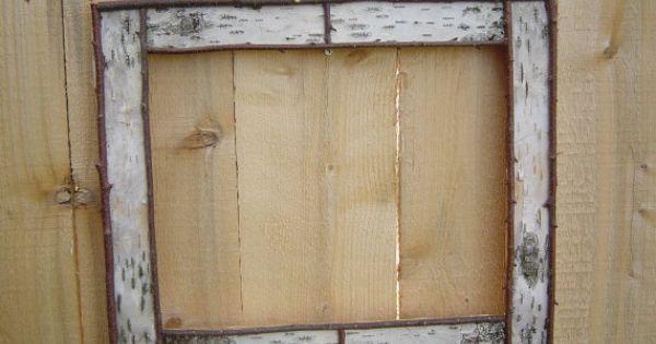 White birch bark picture frame custom by