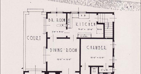 1926 Portland Home Plan By Universal Plan Service No