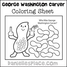 George Washington Carver Coloring Sheet From Www Daniellesplace
