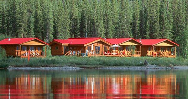 Tincup yukon canada remote log cabins vacation on lake top lodges - Small log houses dream vacations wild ...