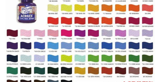 Carta de colores acrilex para tela buscar con google for Muestrario colores pintura