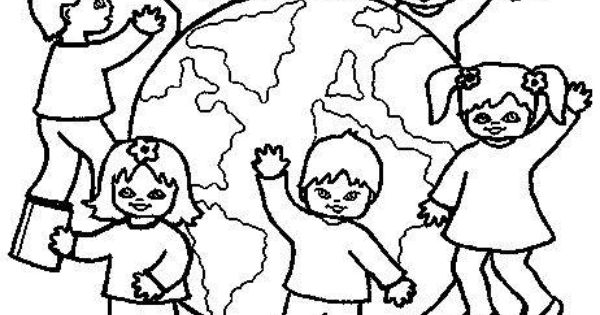 Coloring pages of children wearing afo ~ Children Around The World Coloring Pages #1 | Things to ...