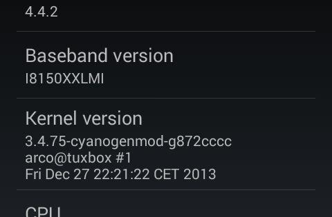 Galaxy W I8150 Cm 11 Android 4 4 4 Yukleme Islemi Indir Yukle Zip Samsung Galaxy Samsung Android