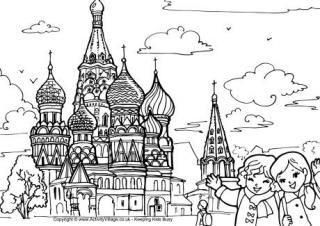 Russia Coloring Pages Coloring Pages For Kids St Basils Cathedral