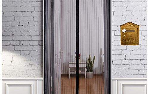 French Screen Doors Advanced Magzo Magnetic Heavy Duty Mesh Fit Your Door Size 34w X 79h Inch With Full Frame Velcro Privacy Insect Fly Screen Mesh 36 X 80 Inc Insect Screen