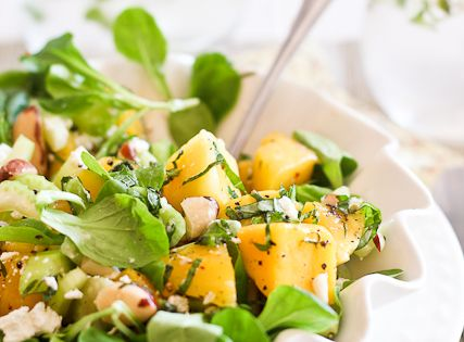 Mango, Celery and Goat Cheese Salad | Recipe | Celery, Goat Cheese ...