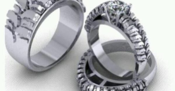 Tire Wedding Rings >> Tire Tread Rings | Maybe | Pinterest | Ring, Wedding and Wedding pics