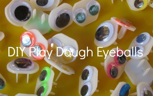 DIY eyes for play dough play...glue googly eyes to outlet covers!