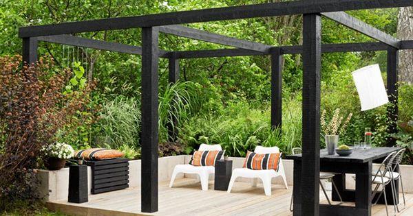 Pergola let 39 s go outside thuis interieurontwerp pinterest tuinen ontwerp en decks - Wijnstokken pergola ...