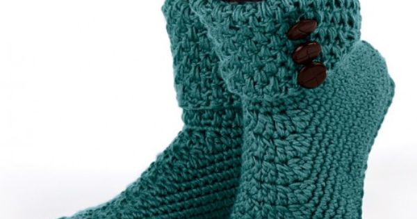 Images Of Free Crochet Slipper Patterns Mary Maxim