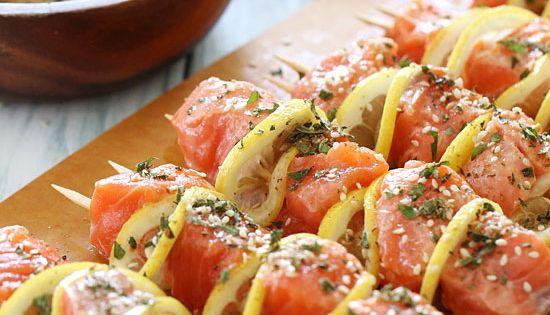 Grilled Salmon Kebabs from skinnytaste!