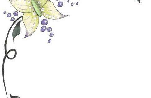 Borde con mariposas para decorar folios decoraciones - Hojas de decoracion ...
