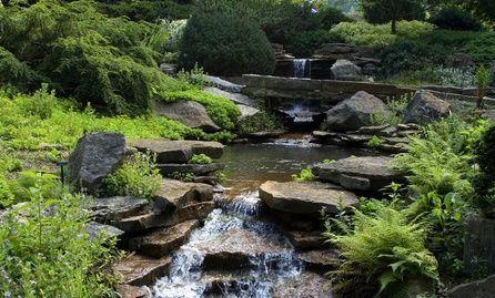 landscaping ideas for backyard creeks slate rock landscaping and the o 39 jays. Black Bedroom Furniture Sets. Home Design Ideas