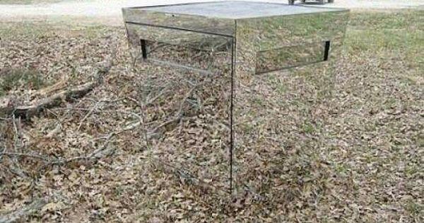 Mirror deer blind tech pinterest for Mirror hunting blinds