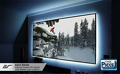Elite Screens Aeon Series Edge Free Wall Mount Projection Screen 100 Inch Diagonal 16 9 Model Ar100w Projector Screen Projection Screens Projection Screen