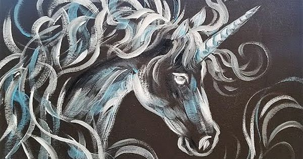 Unicorn Acrylic Painting Tutorial by Angela Anderson on ...