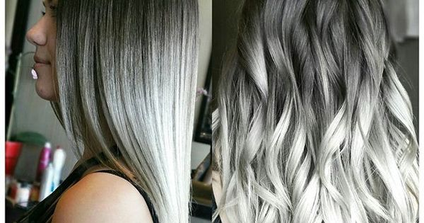 Silver Metallic And Smoky White Hair Color By Linh Phan