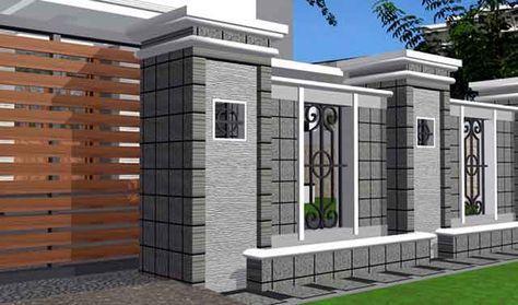 Desain Pagar Rumah Minimalis Modern Rumah Mewah Rumah Minimalis