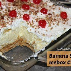 Banana Split Icebox Cake Recipe Banana Split Icebox Cake Recipe Dessert Recipes Desserts