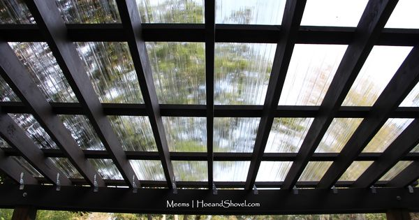 Clear Polycarbonate Roof And Espresso Opaque Olympic Stain