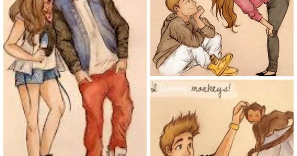 Charming Justin bieber couple cartoon phrase